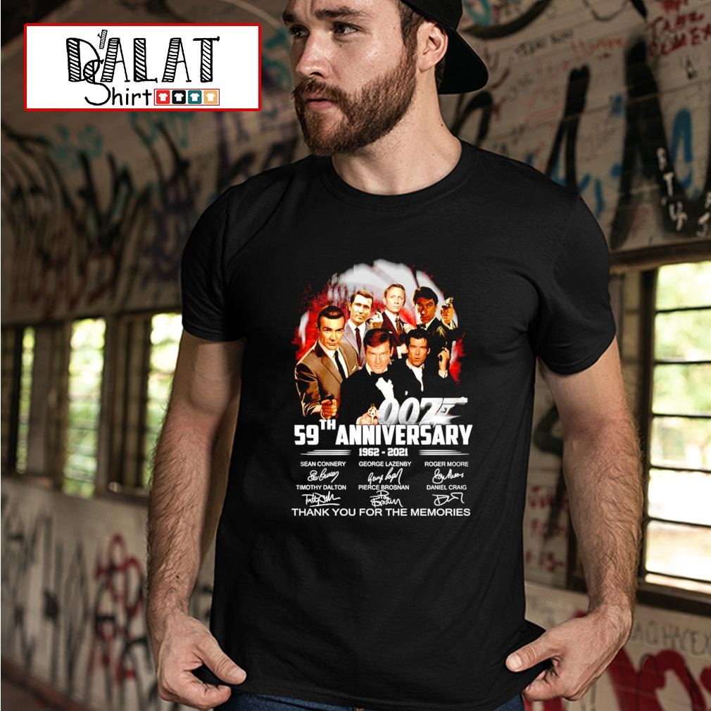 59th anniversary 1962-2021 thank you for the memories shirt