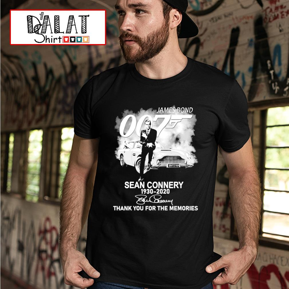 James Bond 007 Sean Connery 1930-2020 thank you for the memories t-shirt