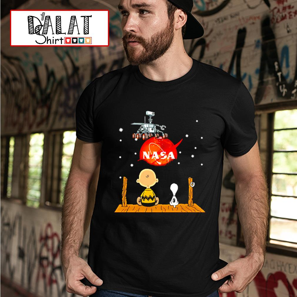 Nasa Charlie Brown and Snoopy shirt