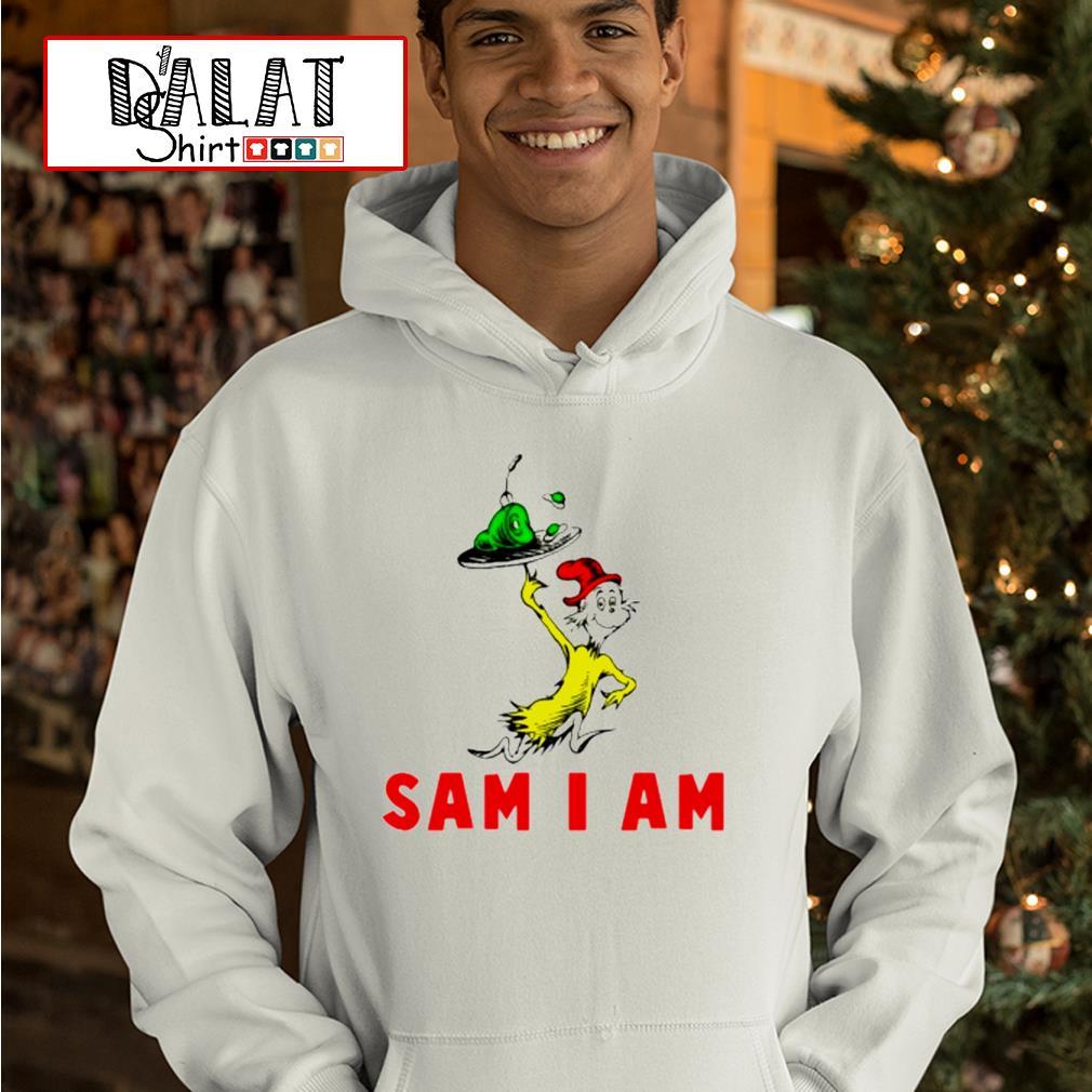 Dr Seuss Green Eggs and Ham sam I am hoodie