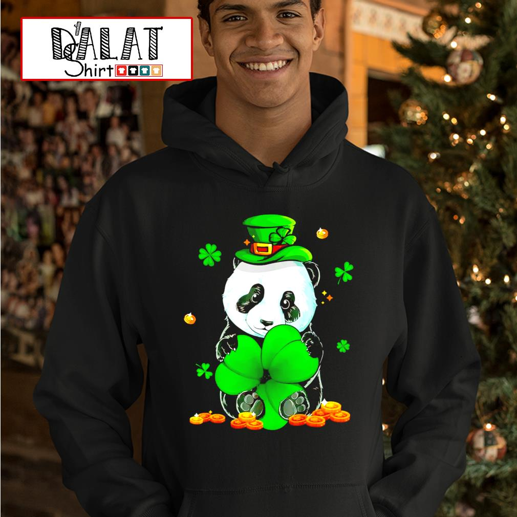 Panda Leprechaun St.Patrick's Day Shamrock hoodie