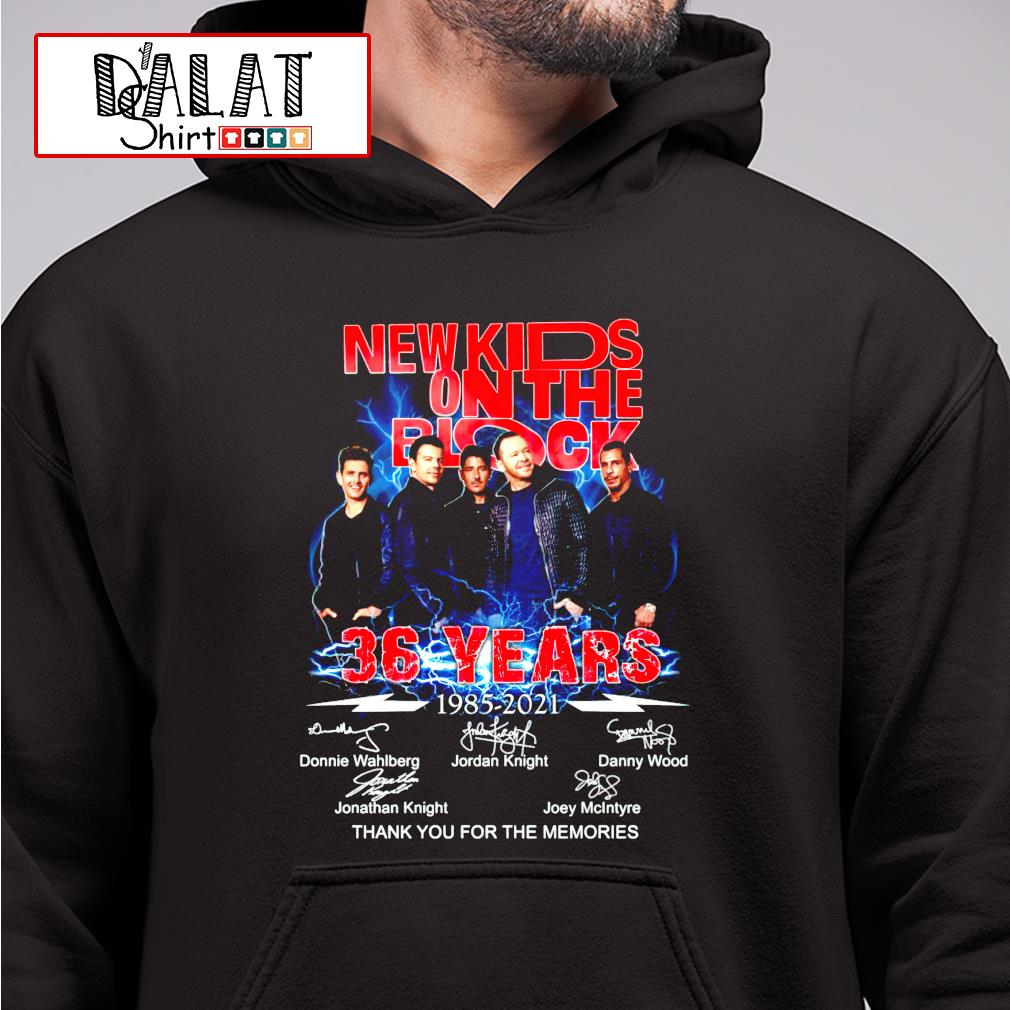 New Kids On The Block 36 years 1985-2021 signature thank you for the memories hoodie
