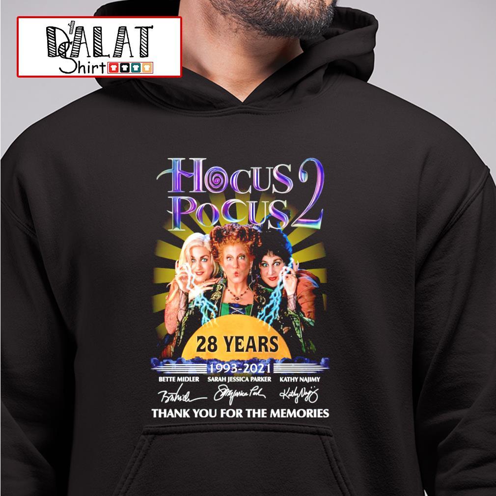 Hocus Pocus 2 28 years 1993-2021 signature hoodie