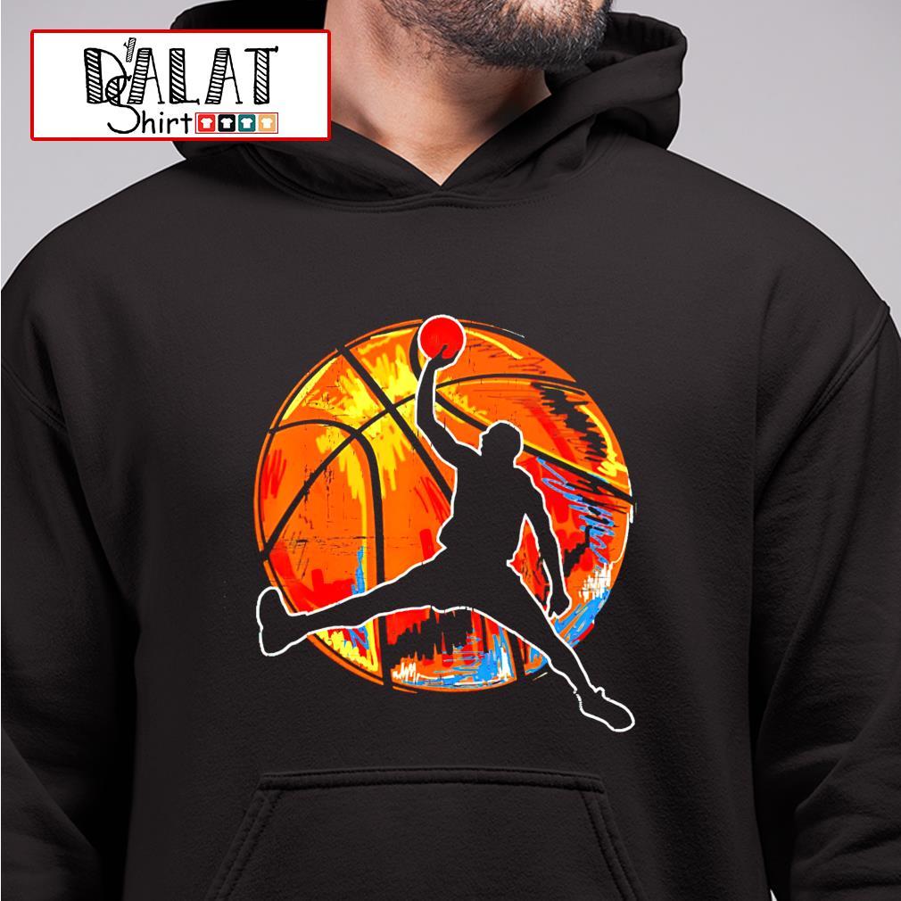 Vintage retro 70s basketball hoodie