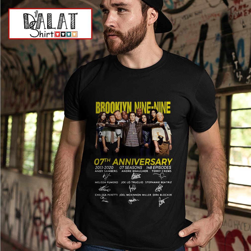 Brooklyn Nine-Nine 07th Anniversary signatures shirt