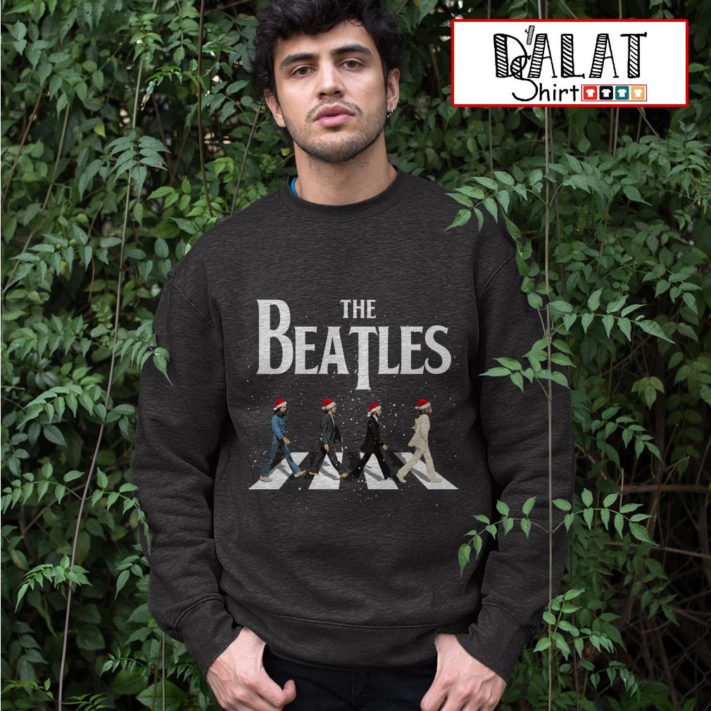 Christmas The Beatles Abbey Road sweater