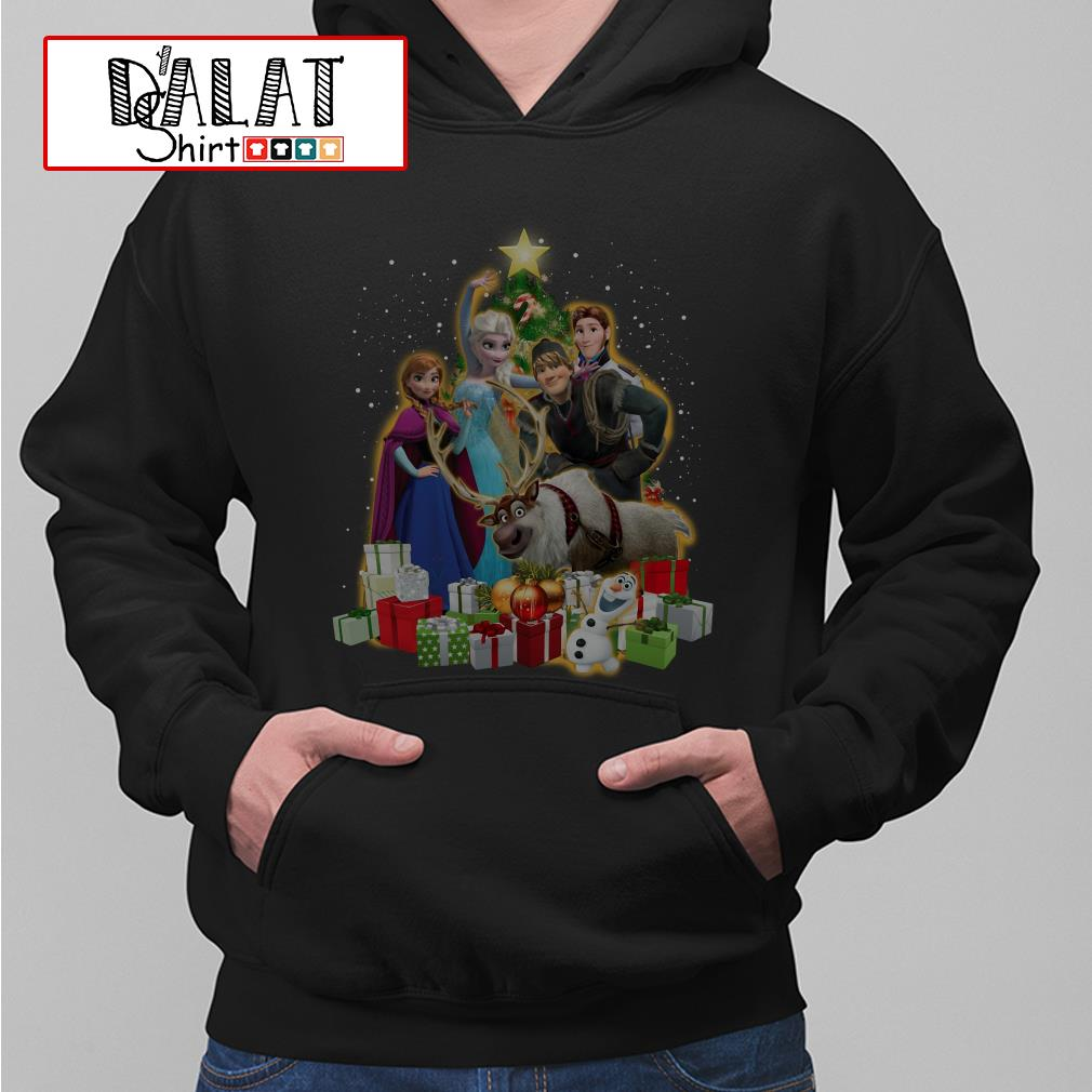 Disney Frozen characters Christmas tree Hoodie