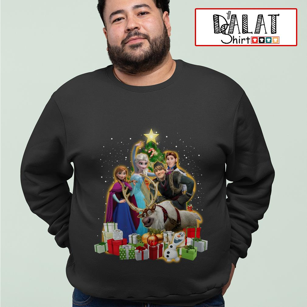 Disney Frozen characters Christmas tree sweater