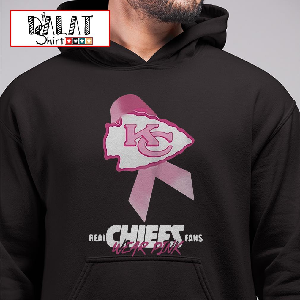Kansas City Chiefs Real Chiefs fans wear pink breast cancer Hoodie