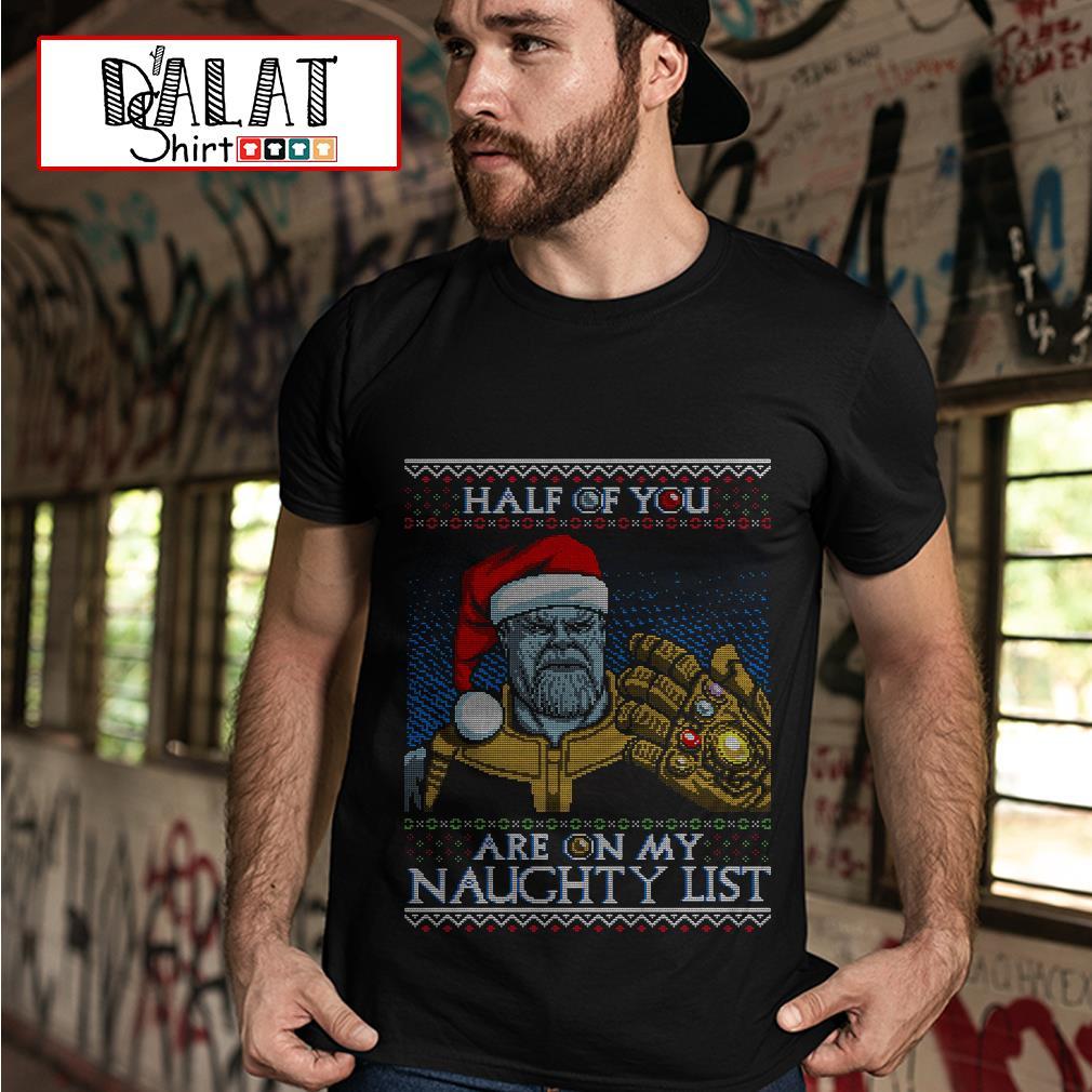 Thanos Avengers Santa half of you are on my naughty list