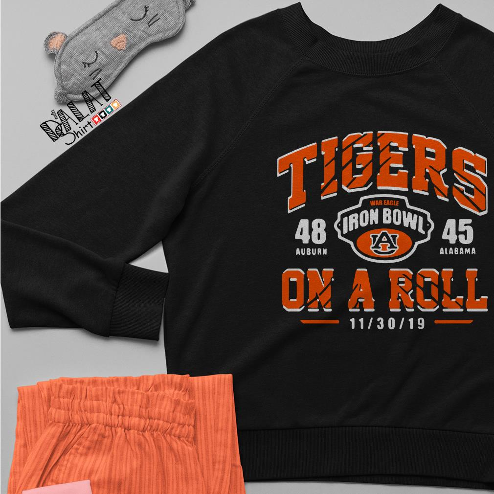 Auburn Tigers 48 Iron Bowl Alabama Crimson Tide 45 On A Roll Sweater