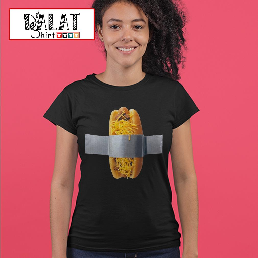 Duct taped cheese coney charity Ladies tee
