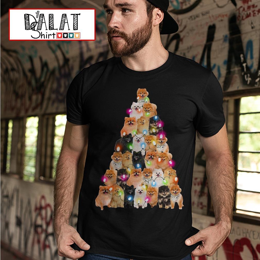Pomeranian Dog Christmas tree Shirt