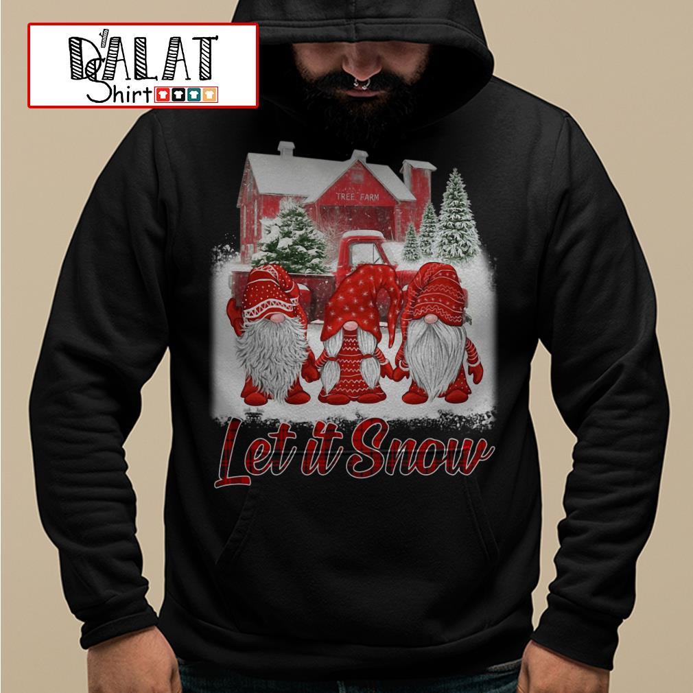 Red Gnomies Let it snow Christmas Hoodie