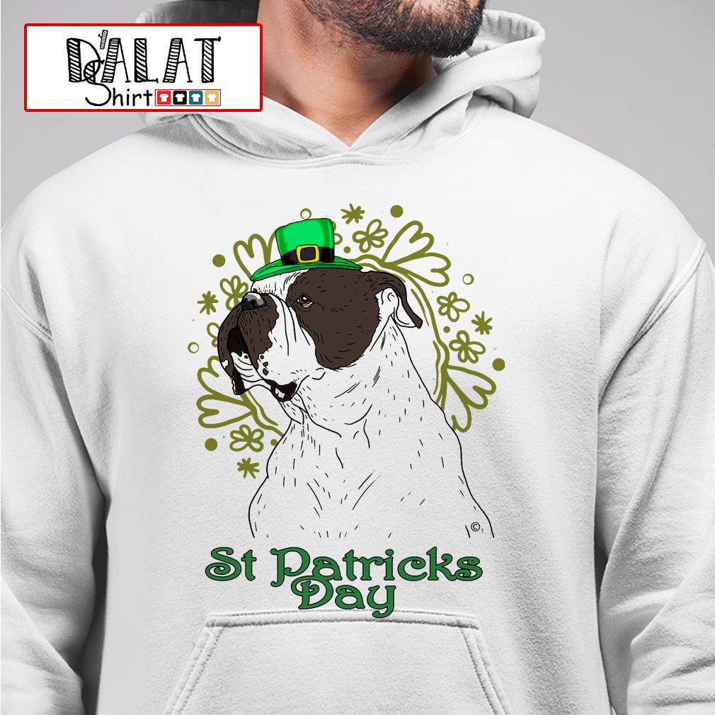 Bulldog St Patricks Day Hoodie