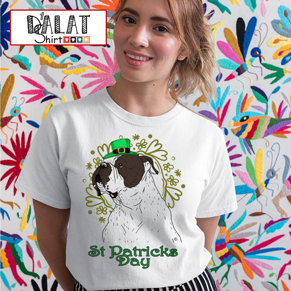 Bulldog St Patricks Day Ladies tee