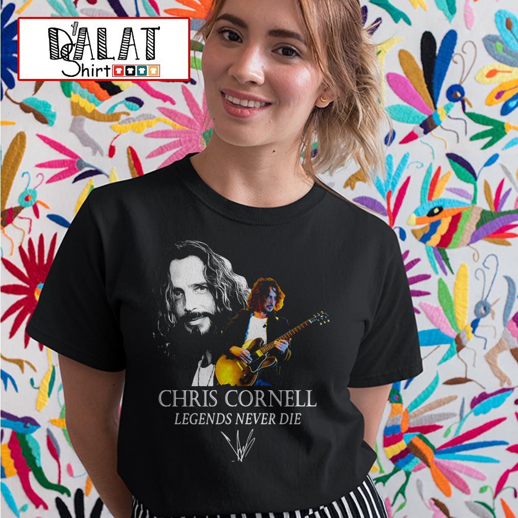 Chris Cornell legends never die signature Ladies tee