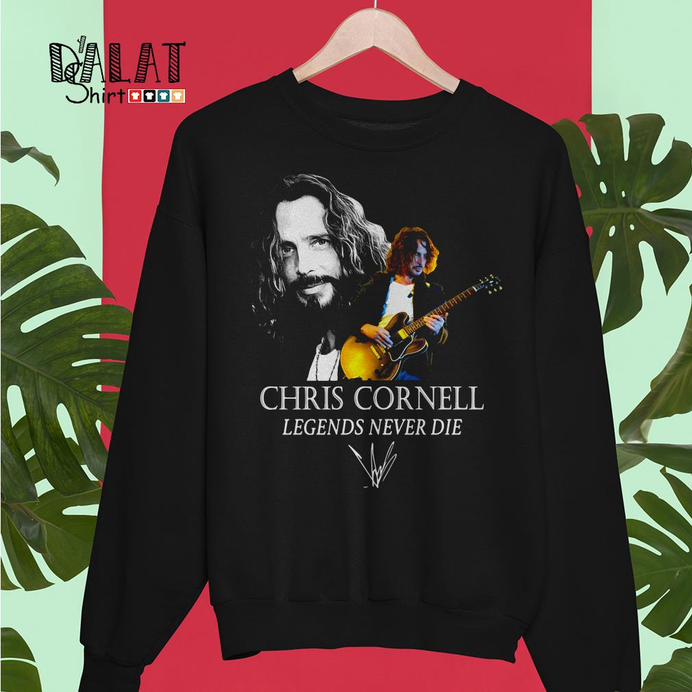 Chris Cornell legends never die signature Sweater