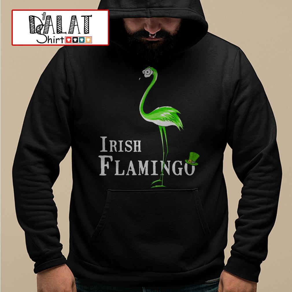 Irish Flamingo St. Patrick's day Hoodie