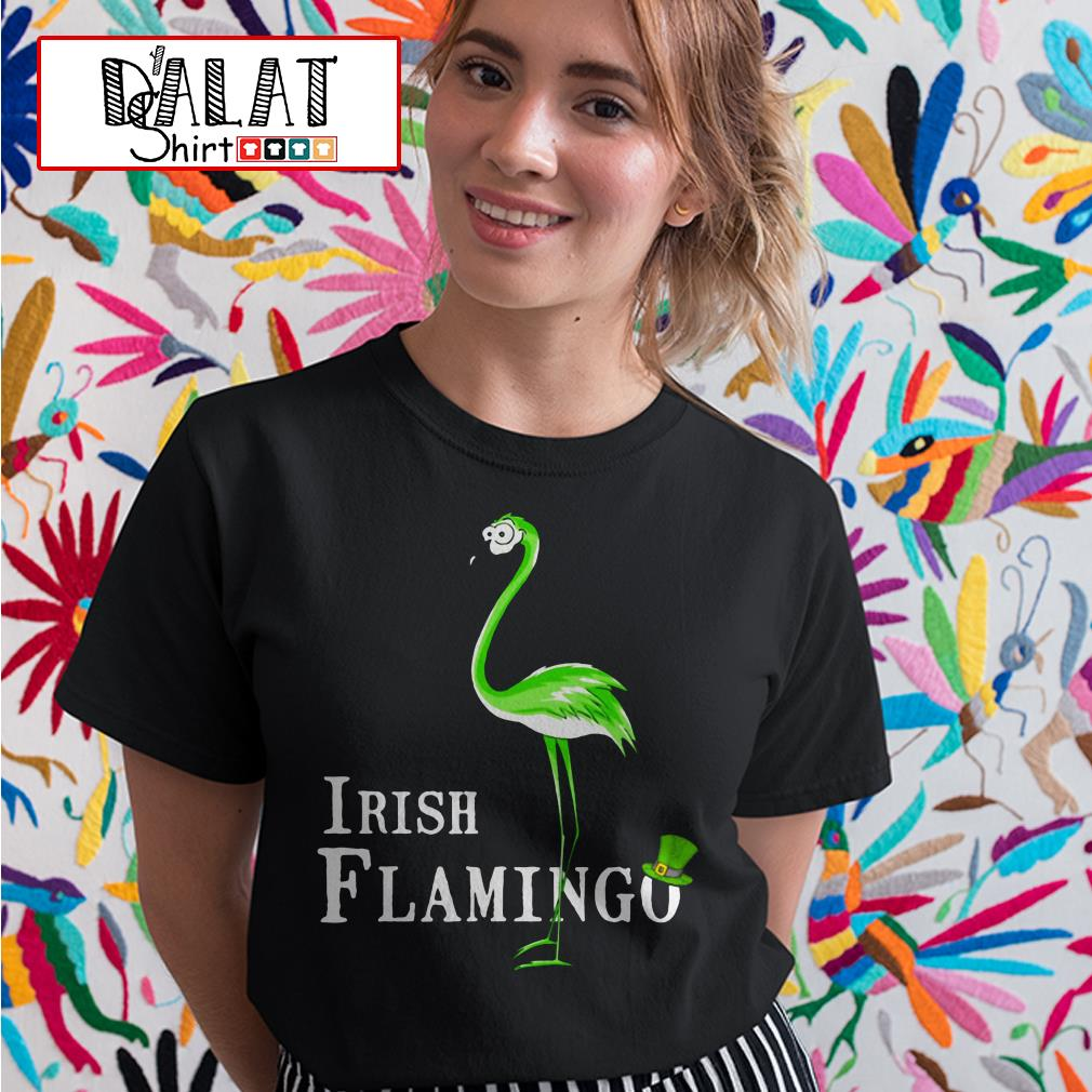 Irish Flamingo St. Patrick's day Ladies tee