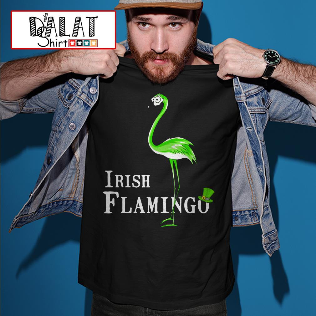 Irish Flamingo St. Patrick's day shirtc