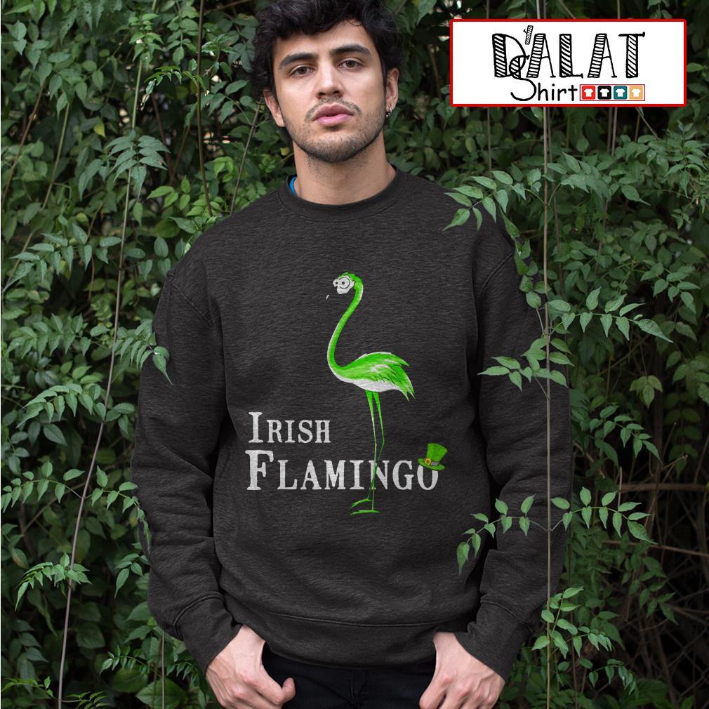 Irish Flamingo St. Patrick's day Sweater