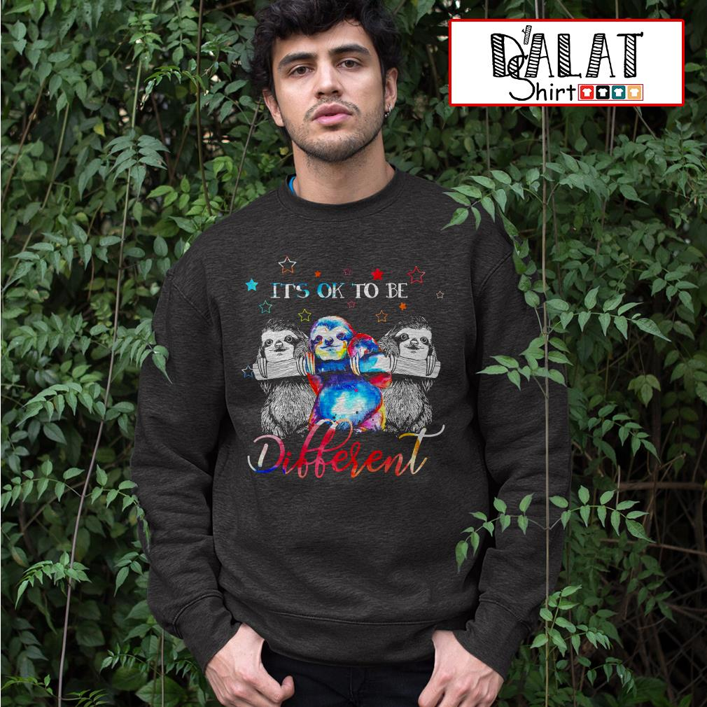 Sloths It's ok to be Different Sweater