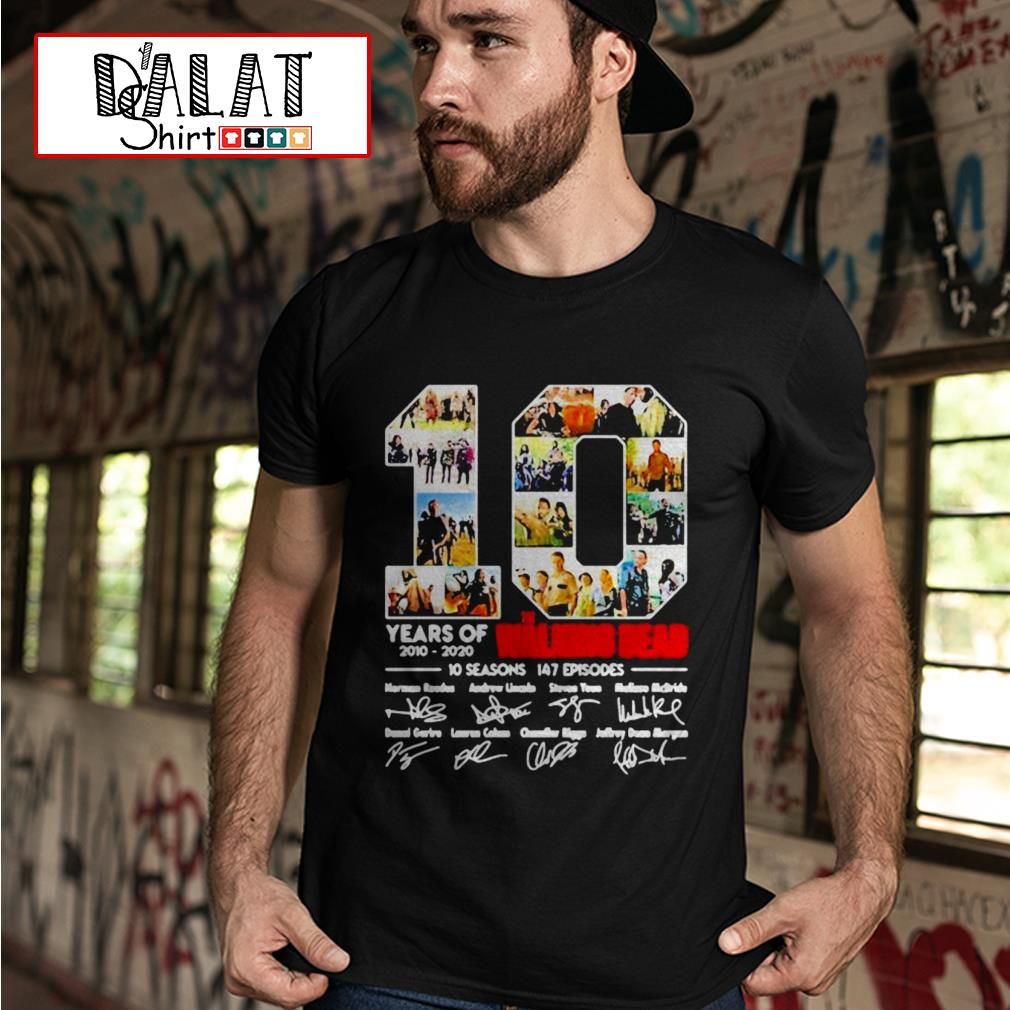 10 Years of the Walking Dead 2010 2020 shirt