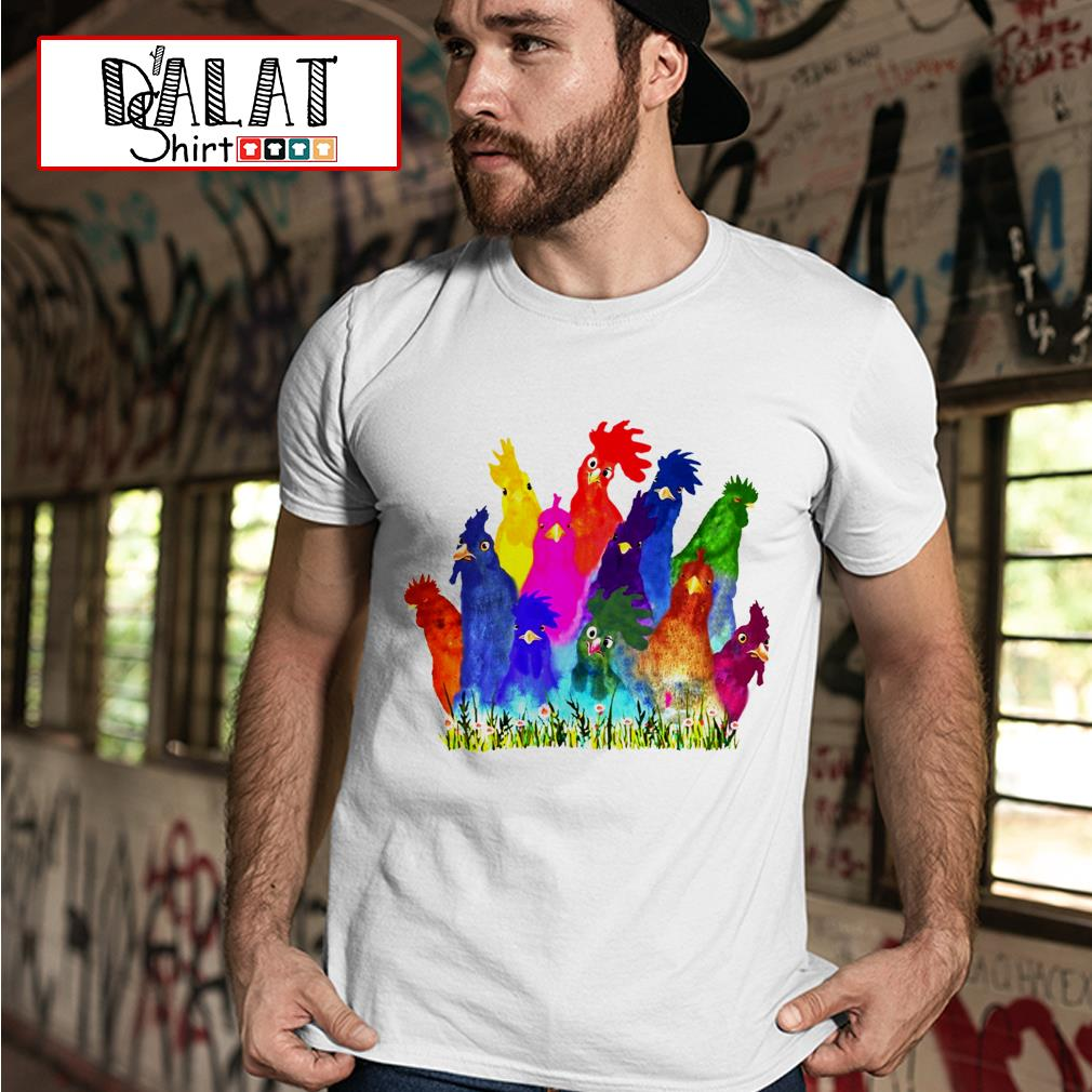 Colorful Chickens shirt