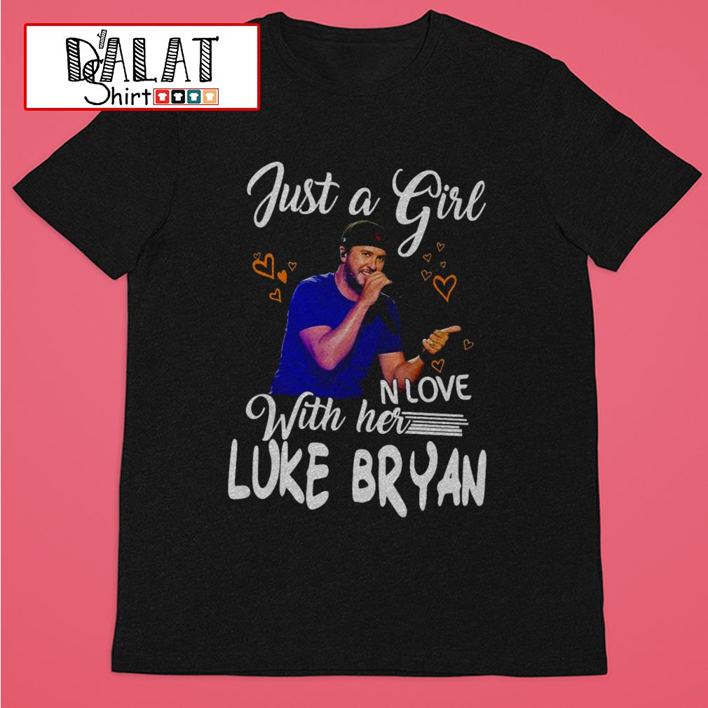 Just a girl in love with her Luke Bryan shirt