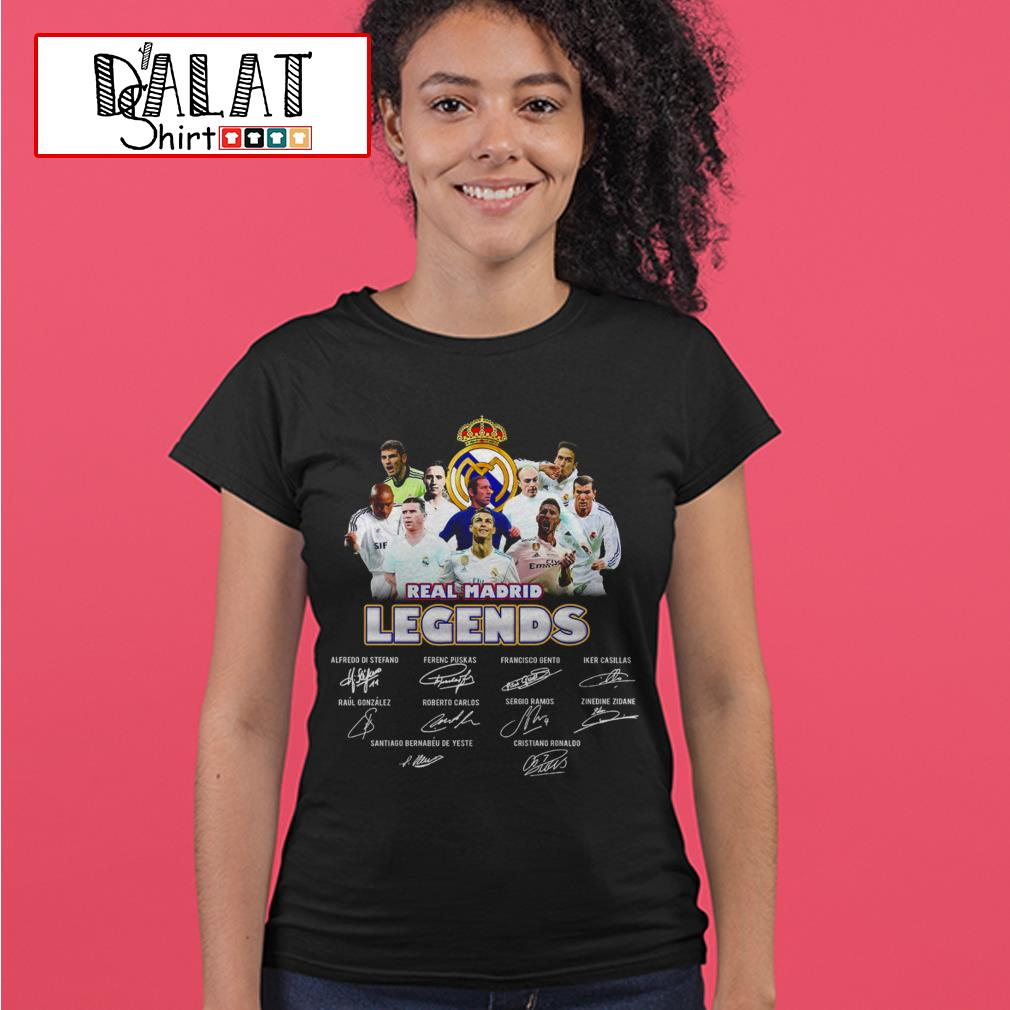 Real Madrid legends signatures Ladies tee