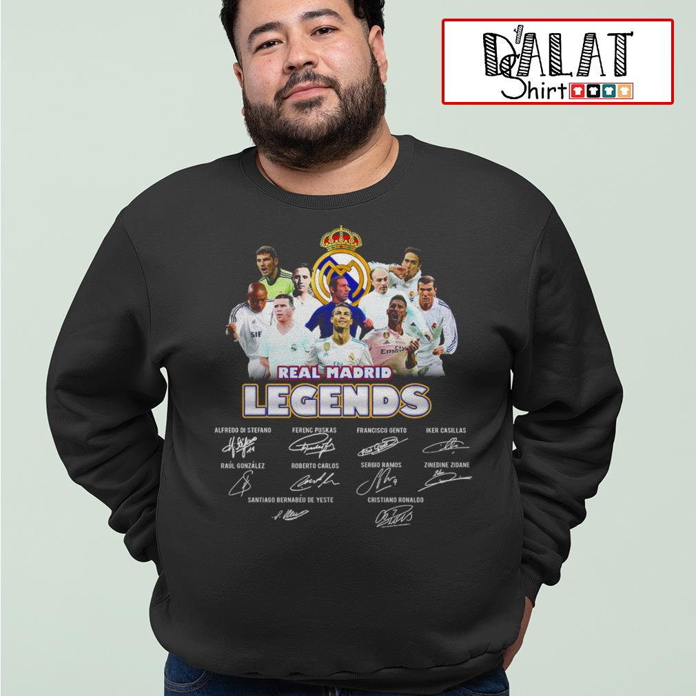 Real Madrid legends signatures Sweater