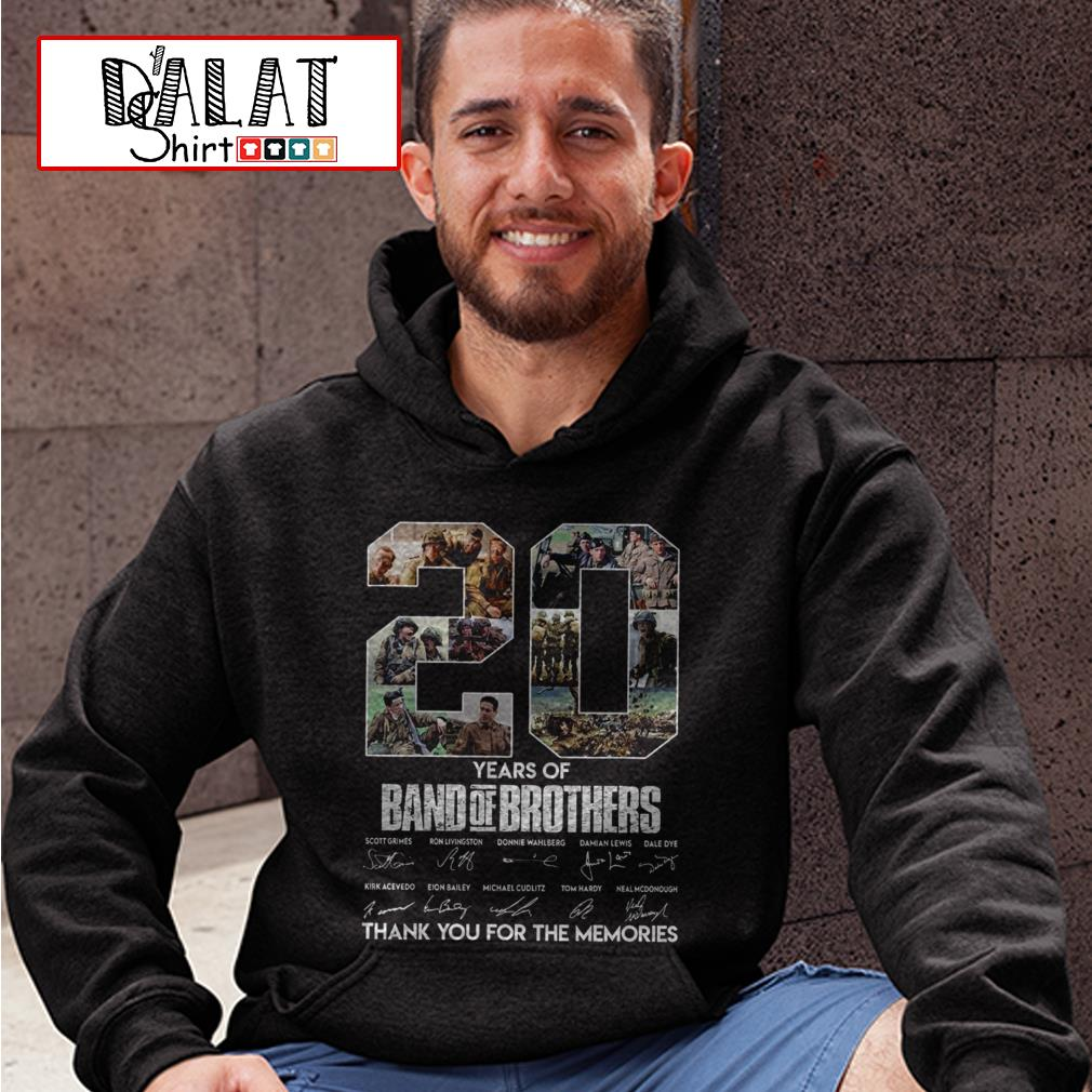 20 years of Band of Brothers thank you for the memories signatures Hoodie