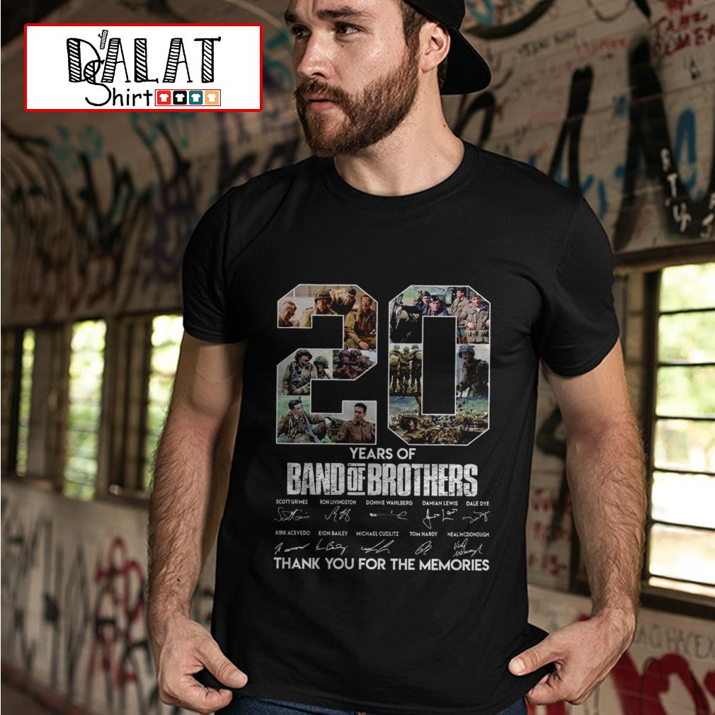 20 years of Band of Brothers thank you for the memories signatures shirt