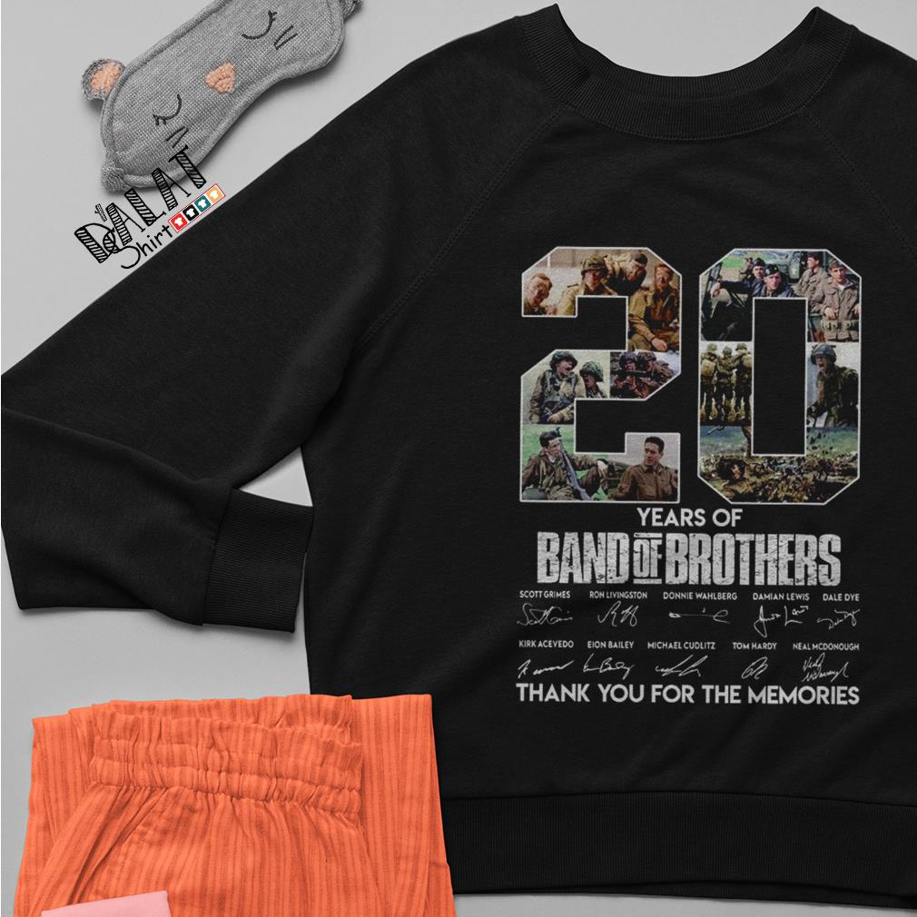 20 years of Band of Brothers thank you for the memories signatures Sweater