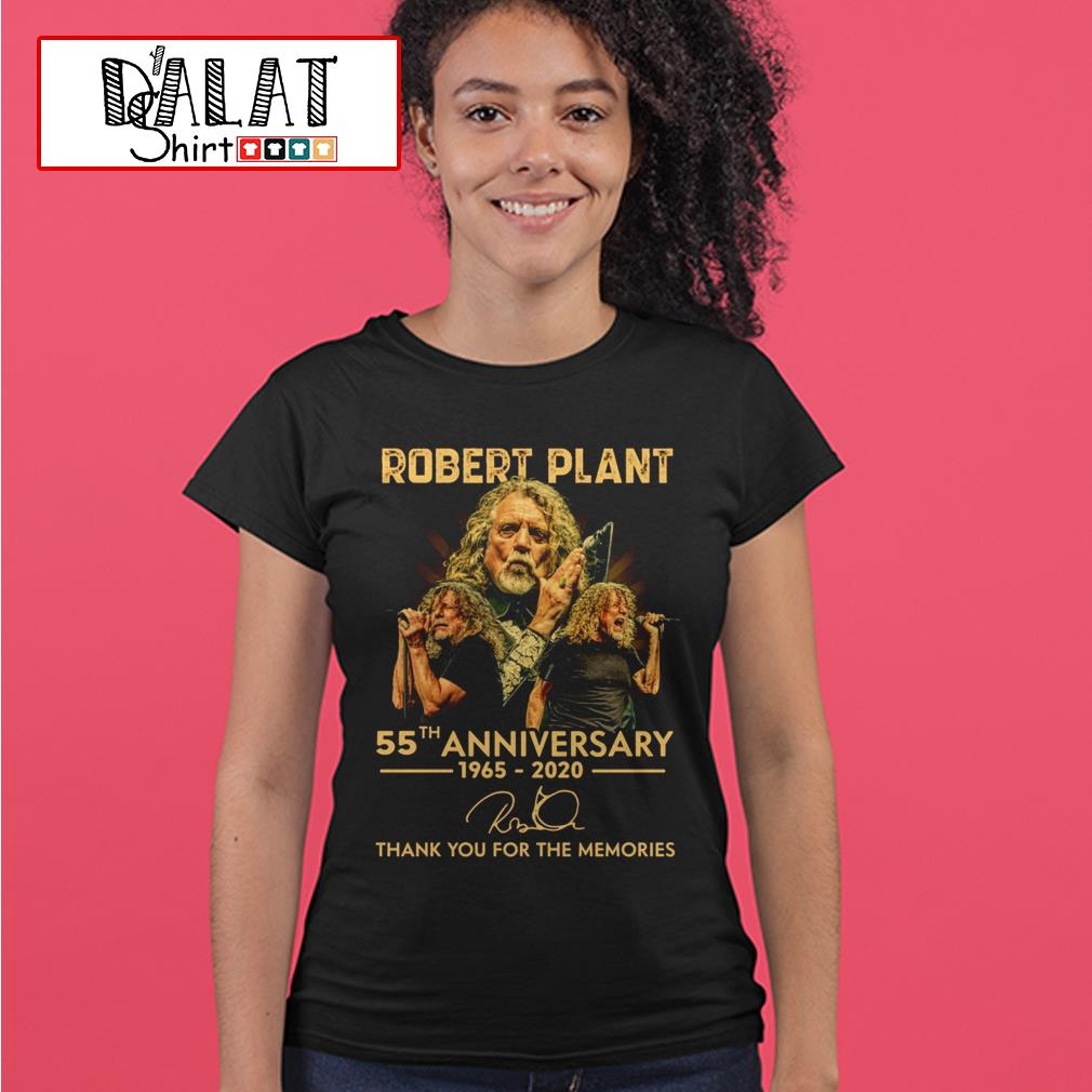 Robert Plant 55th anniversary 1965 2020 signature thank you for the memories Ladies tee