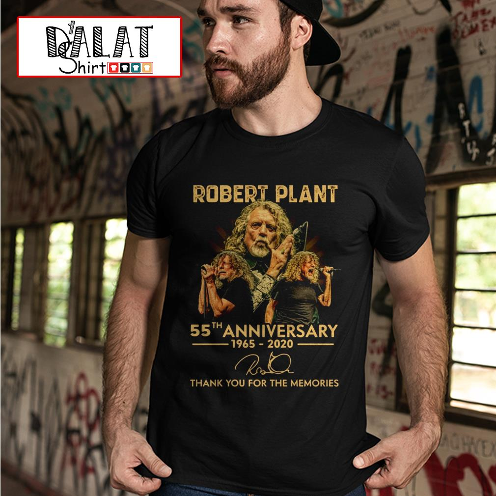 Robert Plant 55th anniversary 1965 2020 signature thank you for the memories shirt