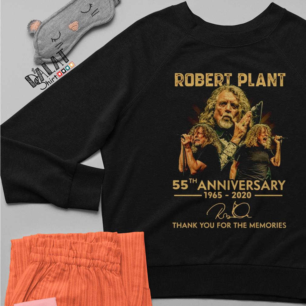 Robert Plant 55th anniversary 1965 2020 signature thank you for the memories Sweater