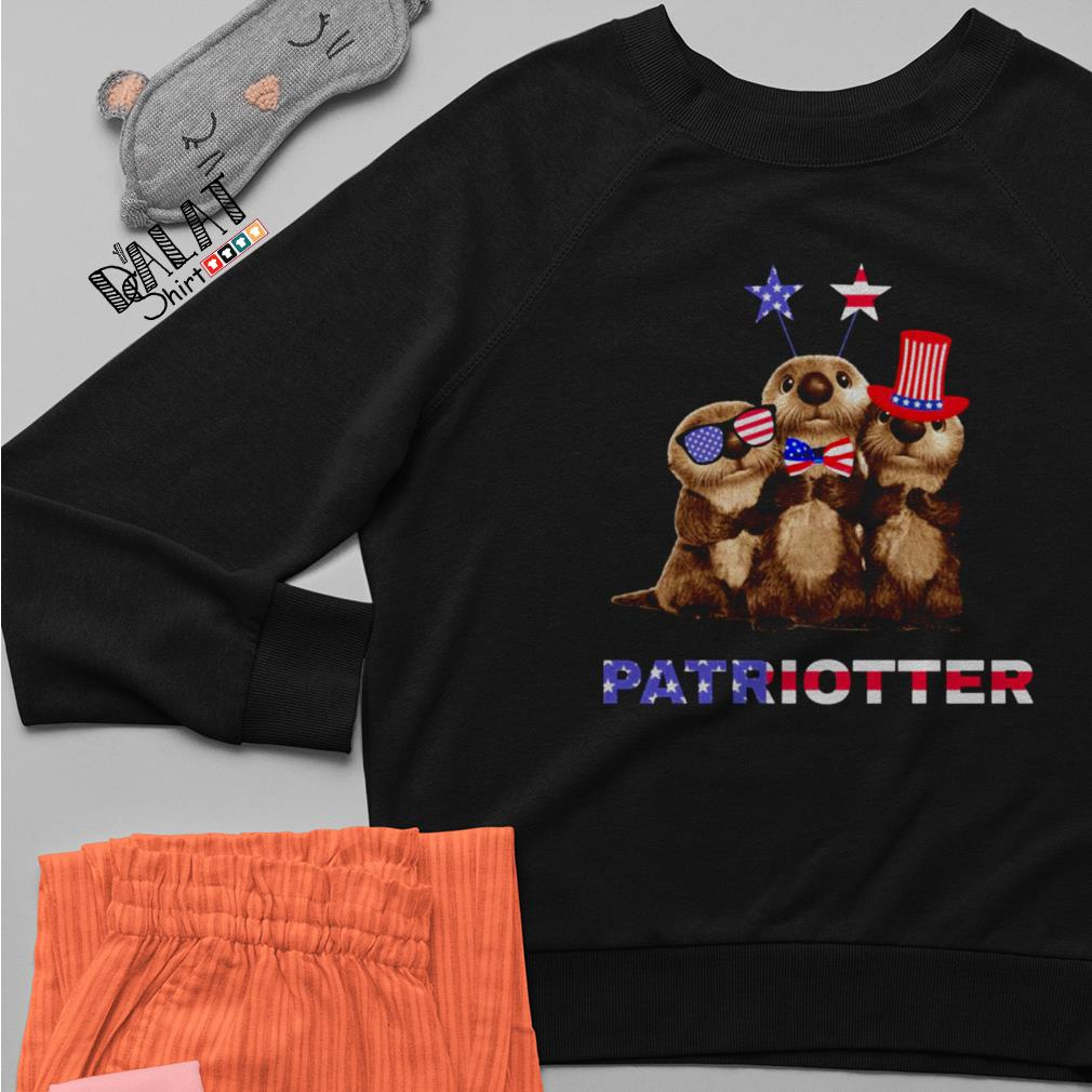 America Flag Independence day Otters Patriotter Sweater