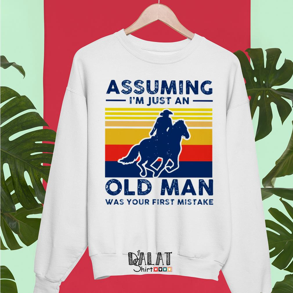 Assuming I'm just an old man was your first mistake vintage Sweater