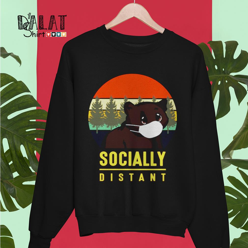 Bear mask socially distant vintage Sweater