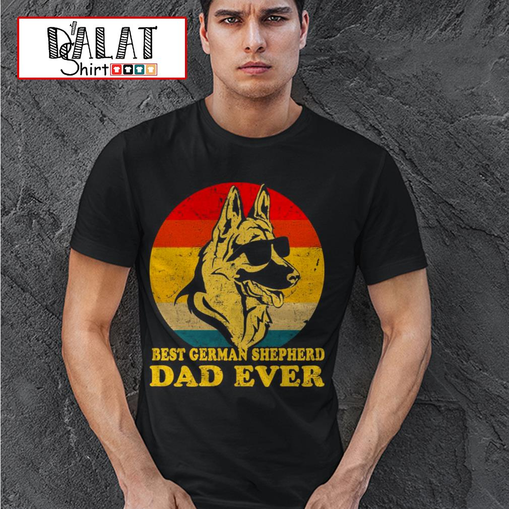 Best german shepherd dad ever sunset shirt