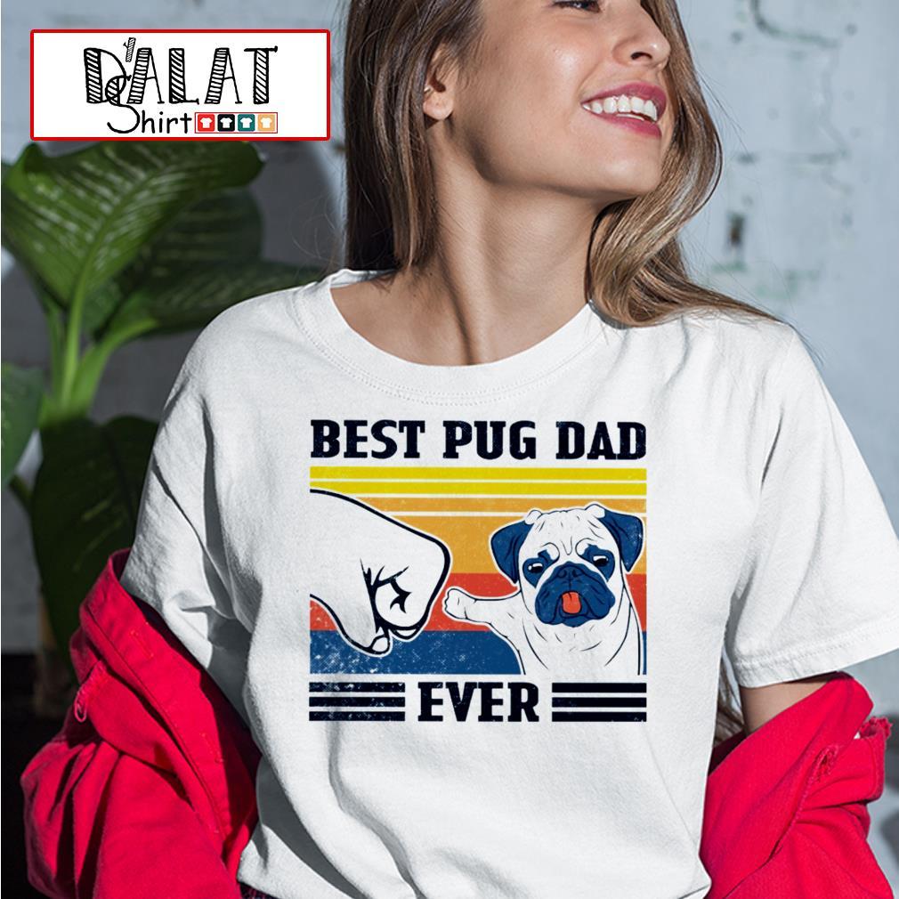 Best Pug dad ever vintage Ladies tee