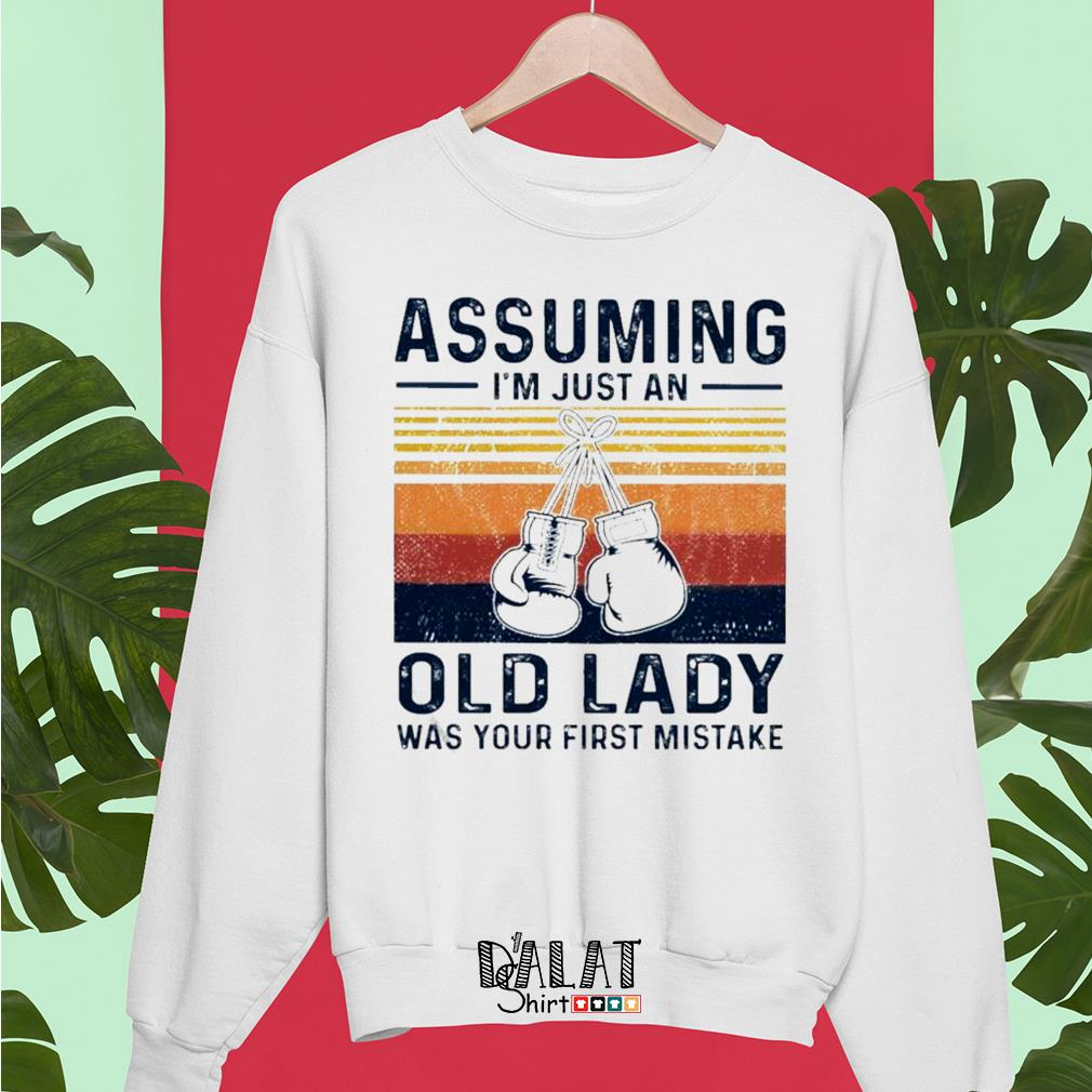 Boxing gloves assuming I'm just an old lady was your first mistake vintage Sweater