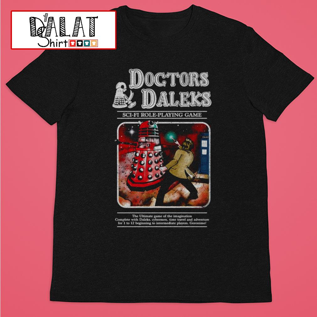 Doctors Daleks sci-fi role-playing game shirt