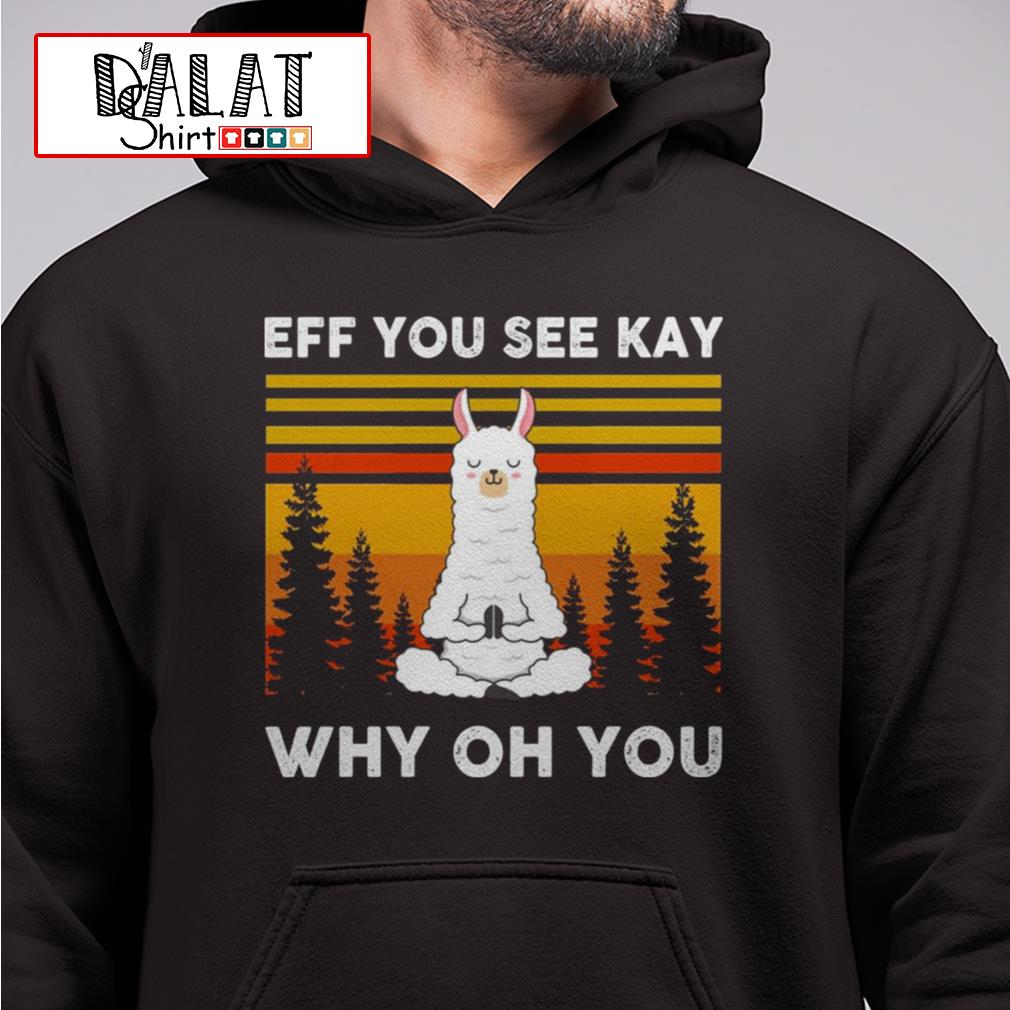 Llama Yoga Eff you see kay why oh you vintage Ladies tee