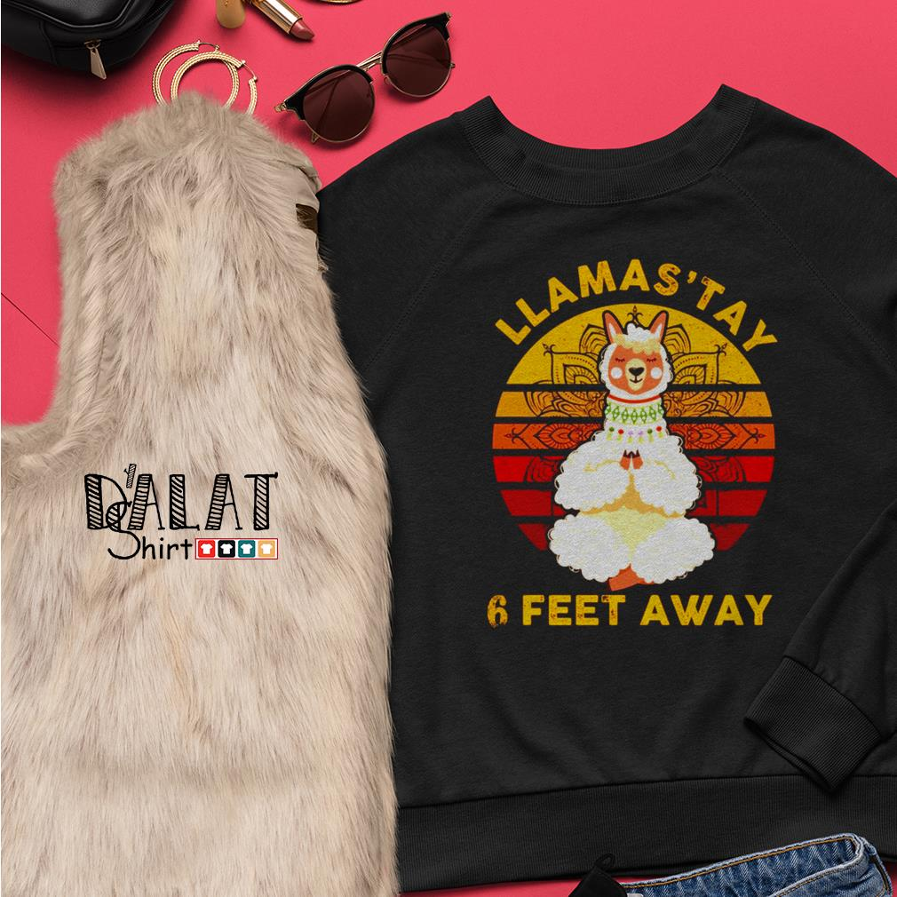 Namas'tay llama 6 feet away Sweater