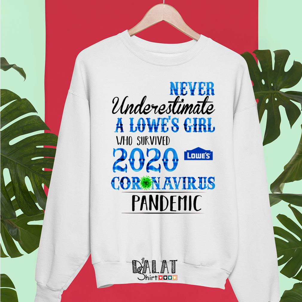 Never underestimate a Lowe's girl who survived 2020 coronavirus pandemic Sweater