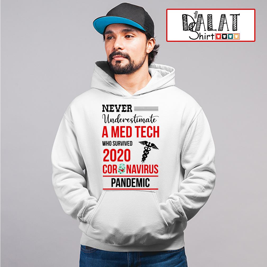 Never underestimate a Med Tech who survived 2020 coronavirus pandemic Hoodie