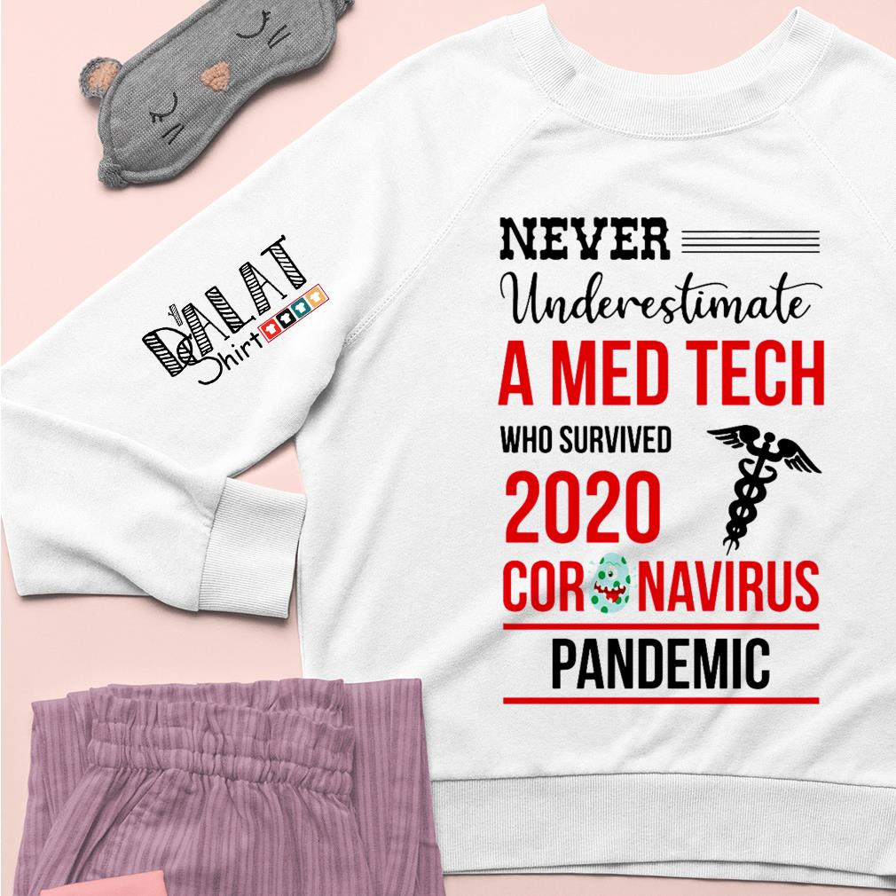 Never underestimate a Med Tech who survived 2020 coronavirus pandemic Sweater